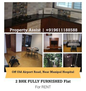 Fully Furnished 2 BHK Flat for RENT Near Manipal Hospital
