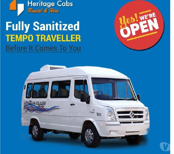 Sanitized Tempo Traveller Hire Jaipur