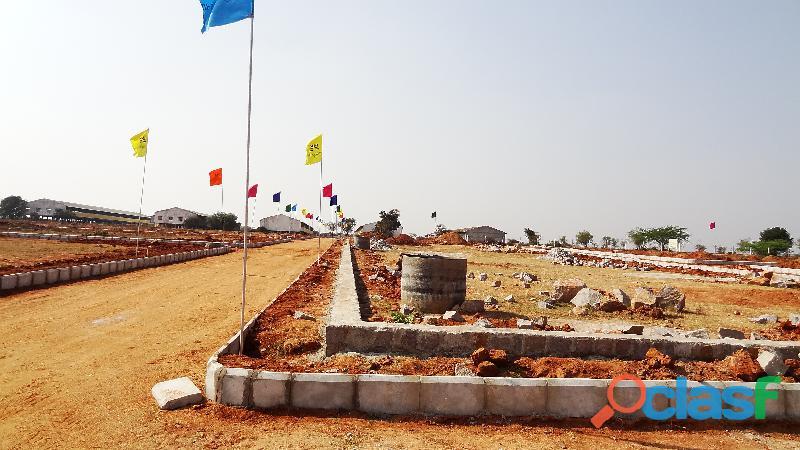 Three side open corner plot in Kothur municipality