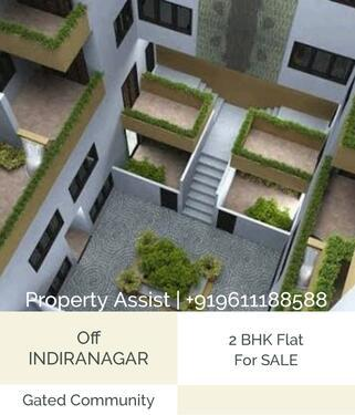 Spacious 2 BHK Flat for SALE just off INDIRANAGAR