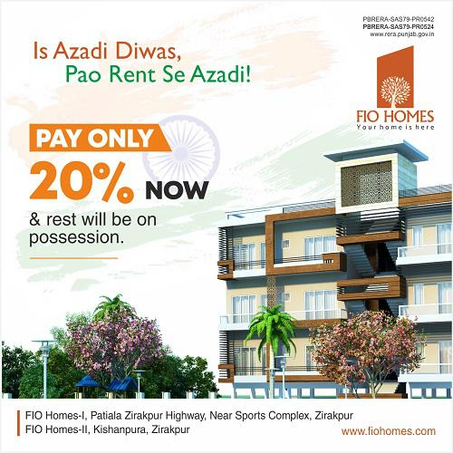 Buy 3 BHK Flats for Sale in Mohali | FIO Homes