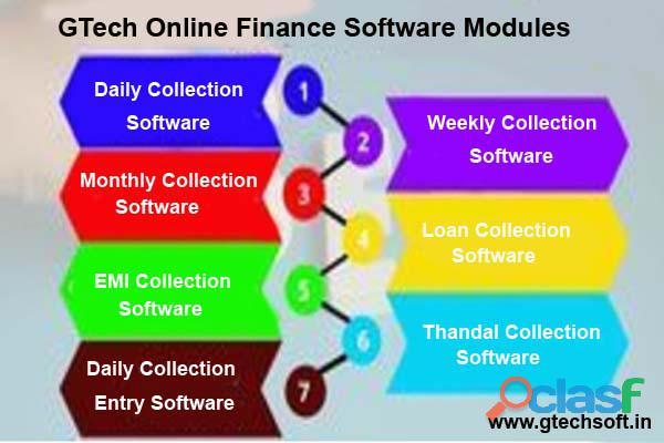 GTech Online Finance Software Modules