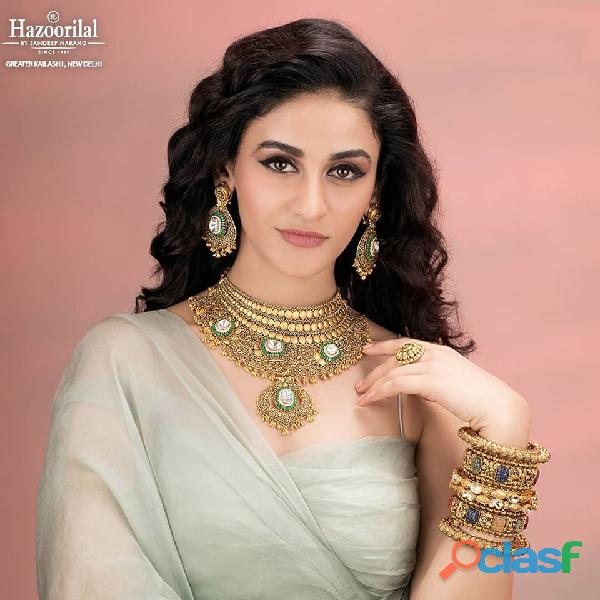 Hazoorilal is one of the best gold jewellers in Delhi.