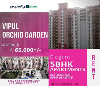 5 BHK Apartments in Gurugram Vipul Orchid Garden for Rent