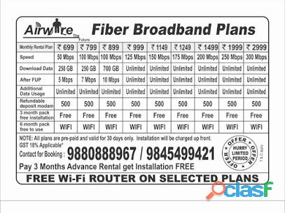Airwire Broadband internet services provider jp nagar 6th