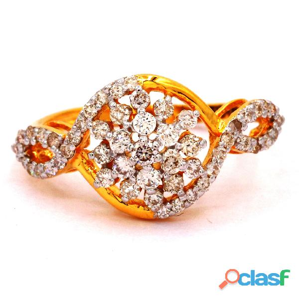 Diamond Ring Roundish Diamond Ladies Ring