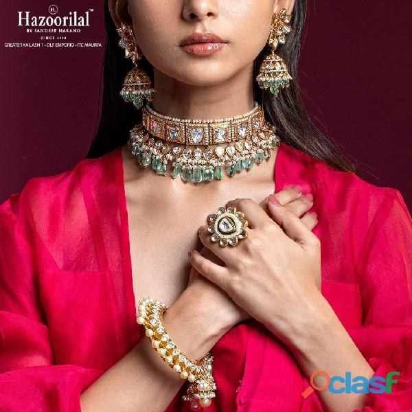 Hazoorilal is among the top solitaire jewellers in Delhi.