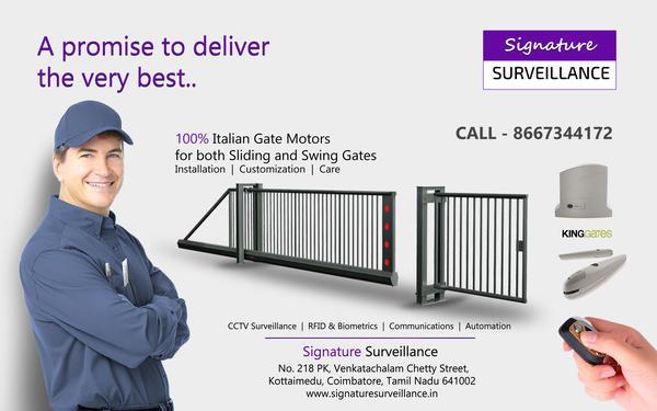 Remote Controlled Gates Coimbatore Signature Surveillance