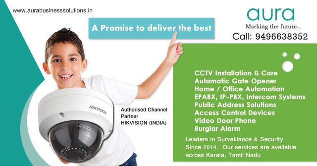 Aura Business Solutions CCTV Installation Thiruvalla